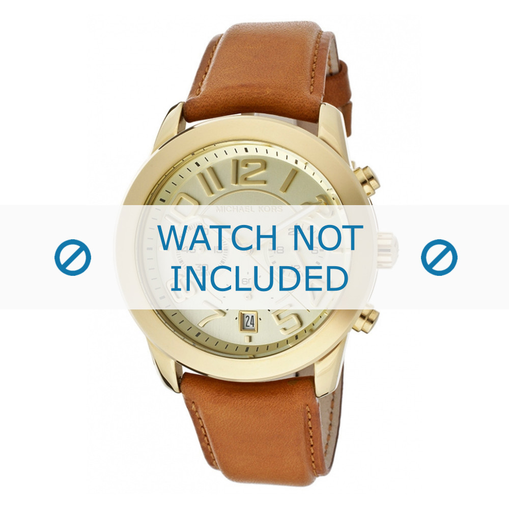 Uhrenarmband Michael Kors MK2251 Leder Cognac 22mm