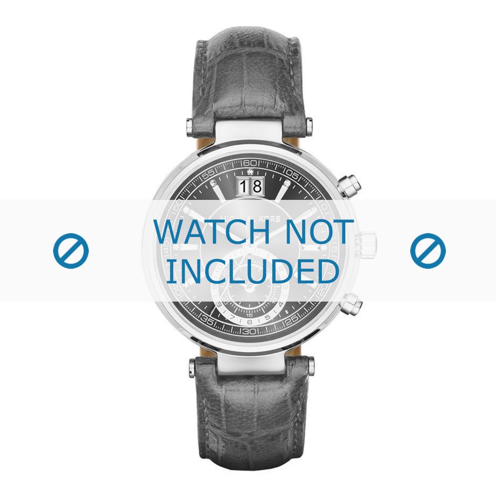 Uhrenarmband Michael Kors MK2432 Leder Grau 12mm