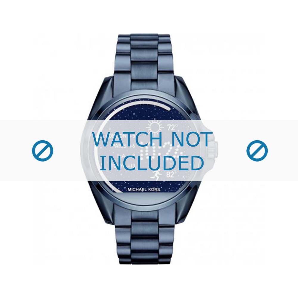 Uhrenarmband Michael Kors MKT5006 Stahl Blau 22mm