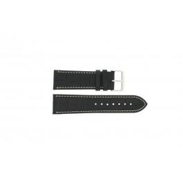 Uhrenarmband Universal 308L.01 XL Leder Schwarz 20mm