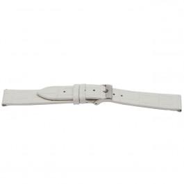 Uhrenarmband Universal H501 Leder Weiss 22mm