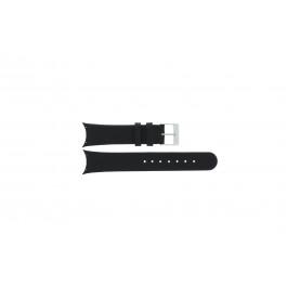 Uhrenarmband Skagen 582SSLC Leder Schwarz 20mm