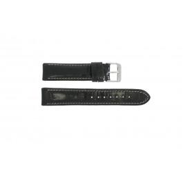 Uhrenarmband Universal 61324.10.20 Leder Schwarz 20mm