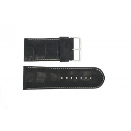 Uhrenarmband Universal 61324.10.34 Leder Schwarz 34mm