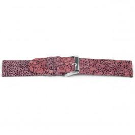Uhrenarmband Universal F736 Leder Rosa 18mm