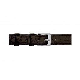 Morellato Uhrenarmband Classico Cucito D2213052019DO08 / PMD019CLSCCU08 Krokodilhaut Schwarz 8mm + standardnähte