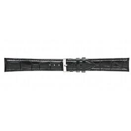 Morellato Uhrenarmband Bolle XL Y2269480019CR22 / PMY019BOLLE22 Kroko leder Schwarz 22mm + standardnähte