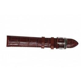 Uhrenarmband Davis B0906 Kroko leder Cognac 22mm