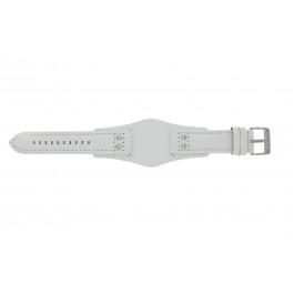 Uhrenarmband Fossil CH2592 Leder Weiss 22mm