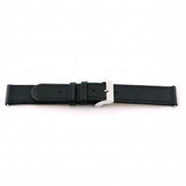 Uhrenarmband Universal G100 Leder Schwarz 20mm