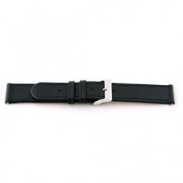 Uhrenarmband Universal F100 Leder Schwarz 18mm