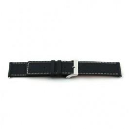 Uhrenarmband Universal L110 Leder Schwarz 30mm