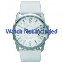 Uhrenarmband Diesel DZ1405 Leder Weiss 28mm