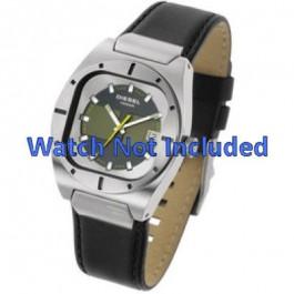 Uhrenarmband Diesel DZ4112 / DZ4113 Leder Schwarz 20mm