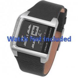 Uhrenarmband Diesel DZ7094 Leder Schwarz 24mm