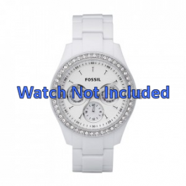 Uhrenarmband Fossil ES1967 Kunststoff Weiss 9mm