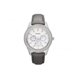 Uhrenarmband Fossil ES2995 Leder Grau 18mm