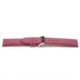 Uhrenarmband Universal F703 Saffiano Leder Rosa 18mm