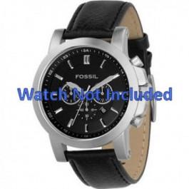 Uhrenarmband Fossil FS4247 Leder Schwarz 22mm