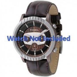 Uhrenarmband Fossil FS4441 Leder Braun 27mm