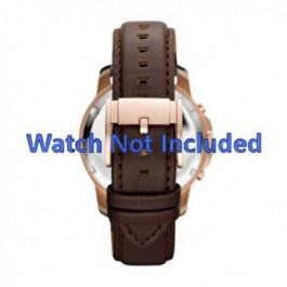 Uhrenarmband Fossil FS4648 Leder Braun 22mm