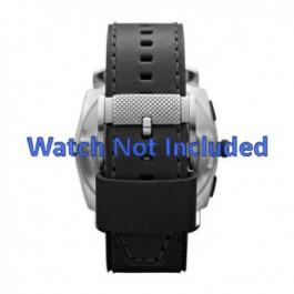 Uhrenarmband Fossil FS4731 Leder Schwarz 24mm