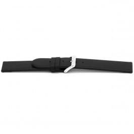 Uhrenarmband Universal G116 Leder Schwarz 20mm