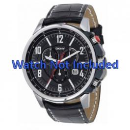 Uhrenarmband DKNY NY1325 Leder Schwarz 22mm