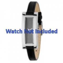 Uhrenarmband DKNY NY3156 Leder Schwarz 9mm