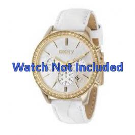 Uhrenarmband DKNY NY4844 Leder Weiss 20mm
