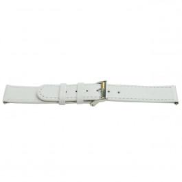 Uhrenarmband Universal H500 Leder Weiss 22mm