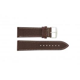 Uhrenarmband Universal I320 Leder Braun 24mm