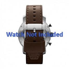 Uhrenarmband Fossil JR1390 Leder Braun 24mm