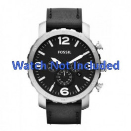 Uhrenarmband Fossil JR1436 Leder Schwarz 24mm