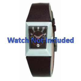 Uhrenarmband Fossil JR9407 Leder Braun 20mm