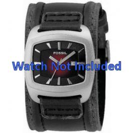 Uhrenarmband Fossil JR9498 Leder Schwarz 22mm