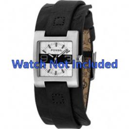Uhrenarmband Fossil JR9514 Leder Schwarz 12mm