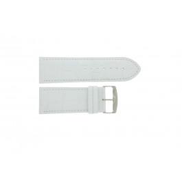 Uhrenarmband Universal 305R.09 Leder Weiss 30mm