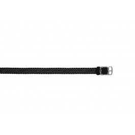 Uhrenarmband Universal PRLN.10.Z Nylon Schwarz 10mm