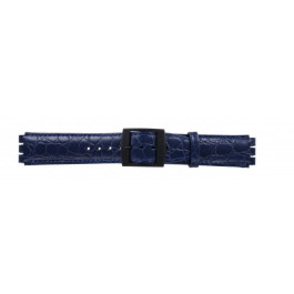 Uhrenarmband Swatch SC10.05 Leder Blau 17mm