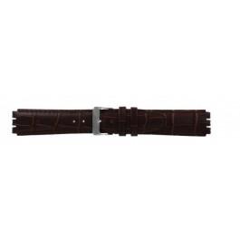 Uhrenarmband Swatch (alt.) 21414.27 Leder Braun 17mm