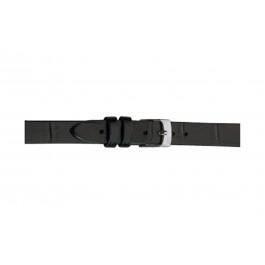 Morellato Uhrenarmband Thin D2860656019CR06 / PMD019THINA06 Kroko leder Schwarz 6mm