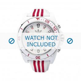 Uhrenarmband Adidas ADH2666 Silikon Weiss 24mm