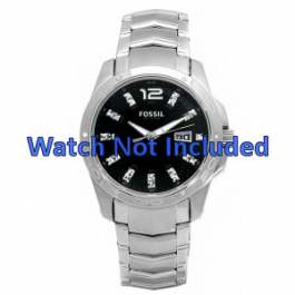 Fossil Uhrenarmband AM4089 Metall Silber 22mm