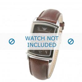 Armani Uhrenarmband AR0237 Leder Braun 21mm
