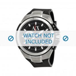 Uhrenarmband Armani AX1042 Silikon Schwarz 32mm