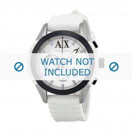 Uhrenarmband Armani AX1225 Silikon Weiss 22mm