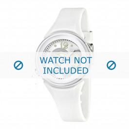 Uhrenarmband Calypso K5576-1 Kautschuk Weiss 17mm