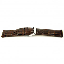 Uhrenarmband Universal I035-XL Leder Braun 24mm