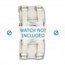 Uhrenarmband Dolce & Gabbana DW0100 Leder Cremeweiß 24mm